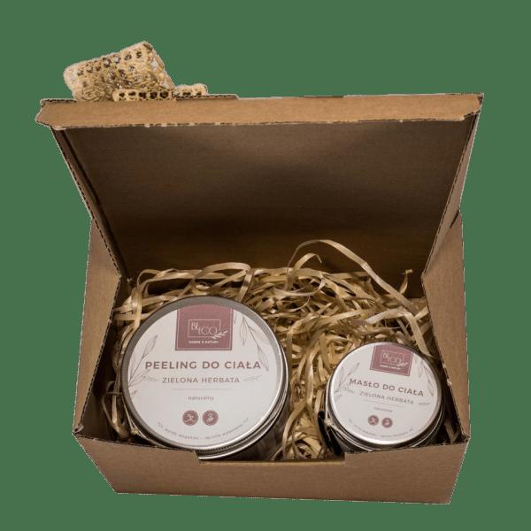 zestaw kosmetyków zielona herbata